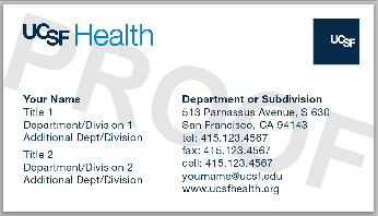 Campus life services documents media online ordering business ucsf health replaces medical center mcbch dual logo card design reheart Gallery