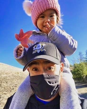 Daniel Camagong and his daughter.