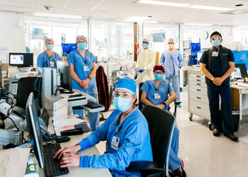 Clinicians in ppe