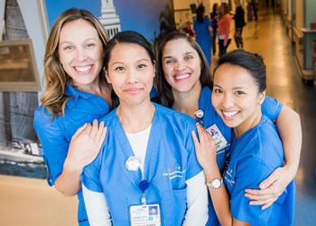 Nurses in a group.
