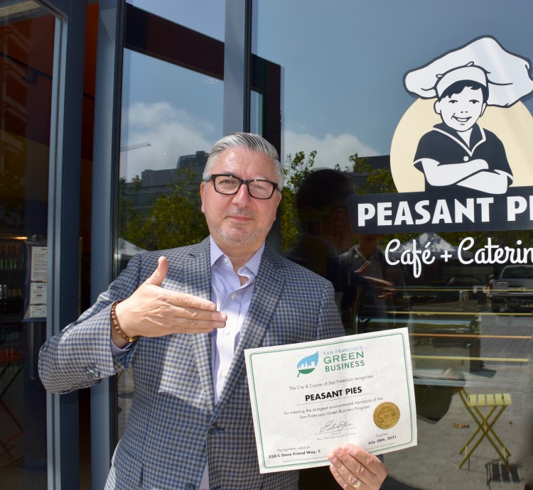 Peasant Pies Named San Francisco Green Business