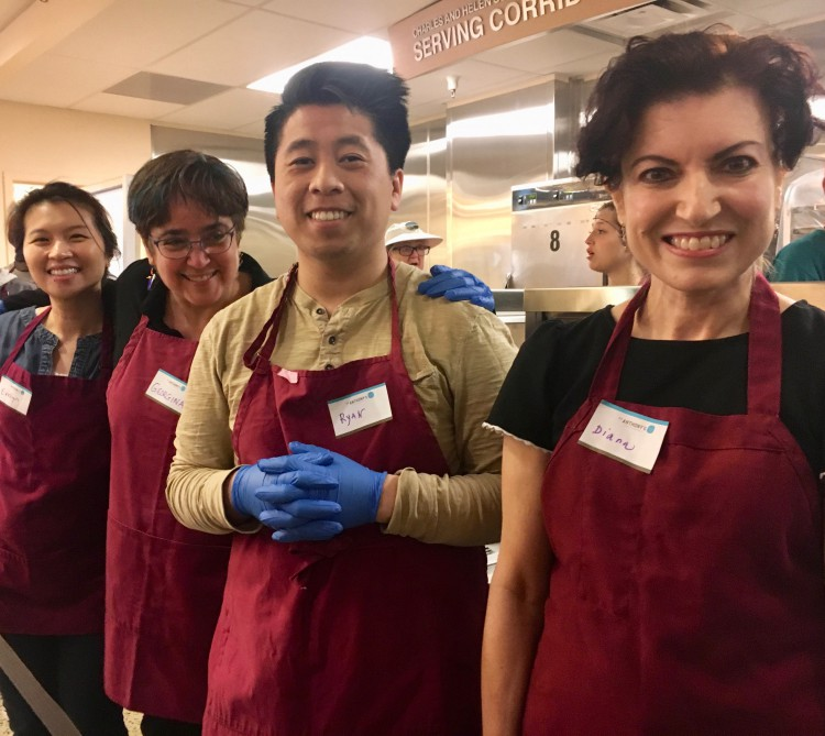 UCSF volunteers at St. Anthony's.