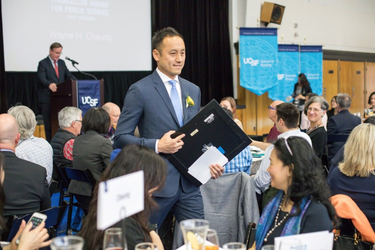 Wayne Cheung Receives Chancellor Award for Public Service