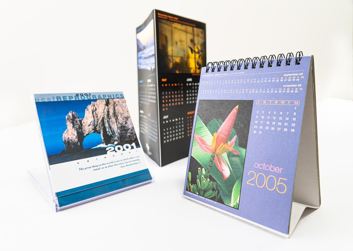 three different calendars.