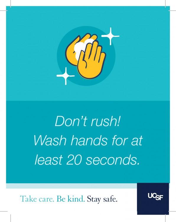 Hand washing sign.