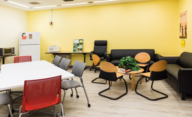 Updated School of Nursing breakroom