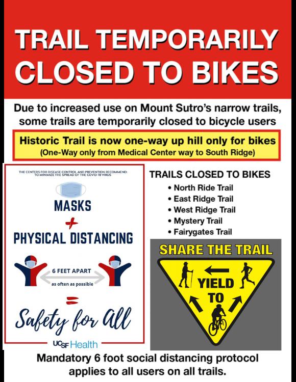 Mount Sutro Trails Closed