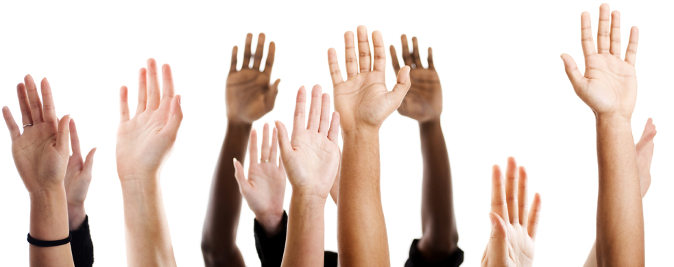 hands raised cropped