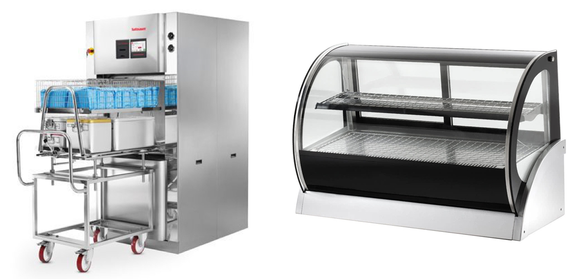 deli case and autoclave