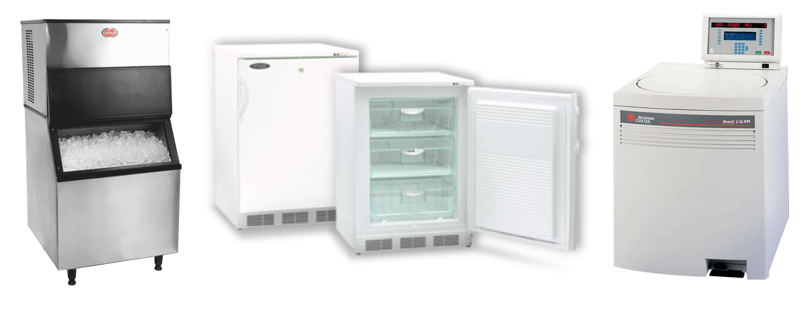 small ice machine and fridge and centrifuge