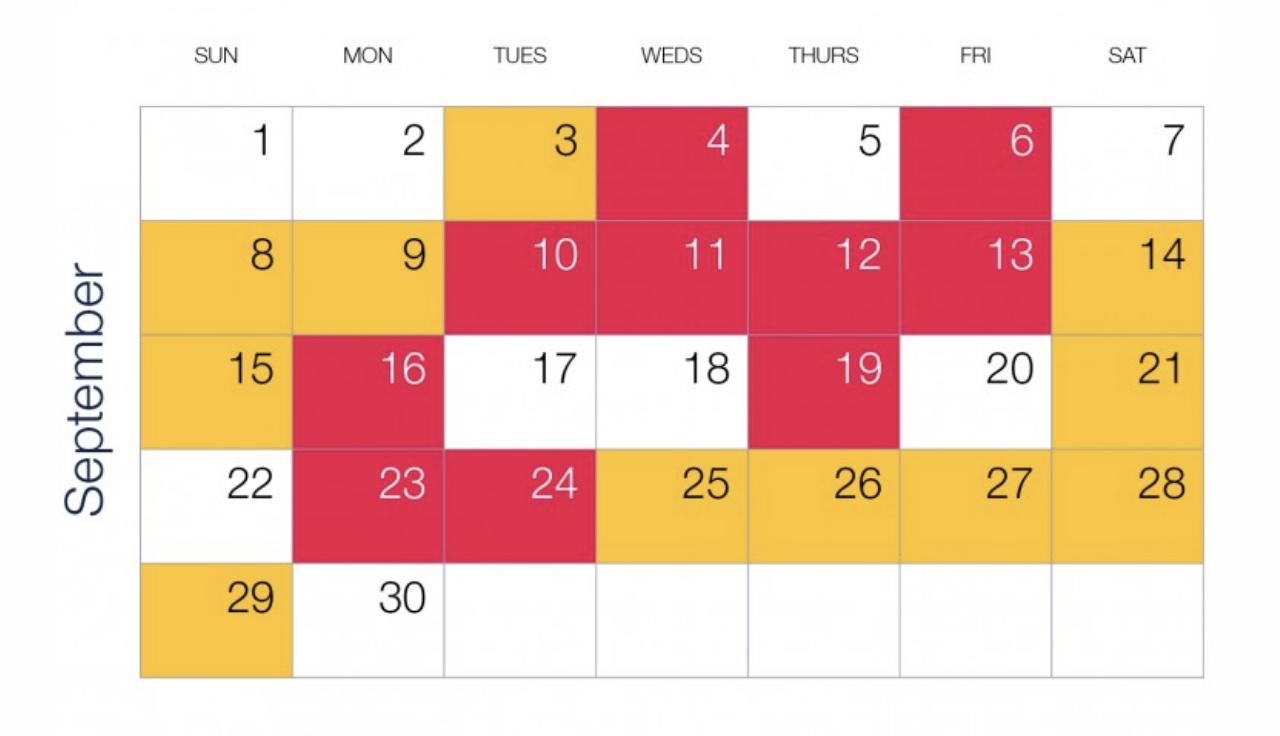 September ETA event calendar