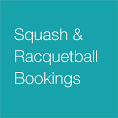 Squash and Racquetball Court Bookings