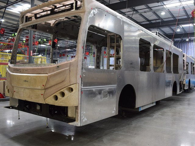 Electric Buses Under Construction