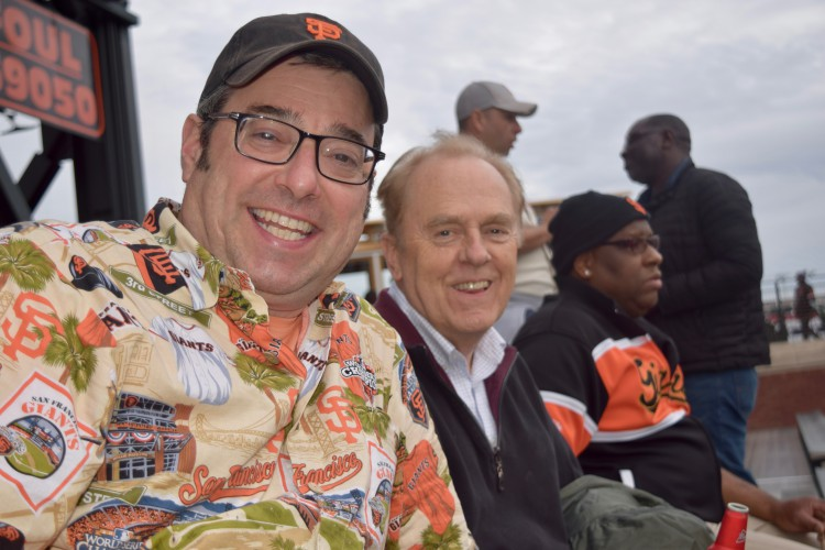 Geoff and Erick at a Giants game.