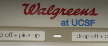 Image of Walgreens pharmacy at UCSF