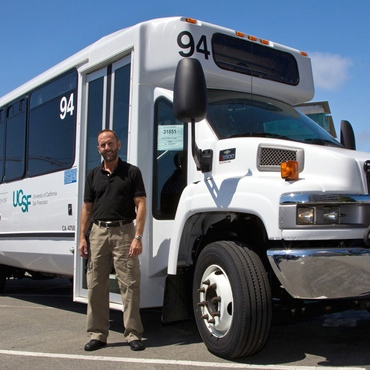 This is a photo of a UCSF shuttle.