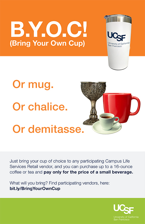Flyer for Bring Your Own Cup