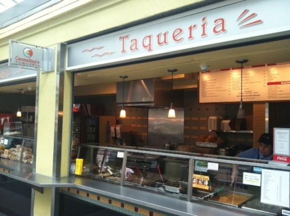 Carmelina's Taqueria, front counter