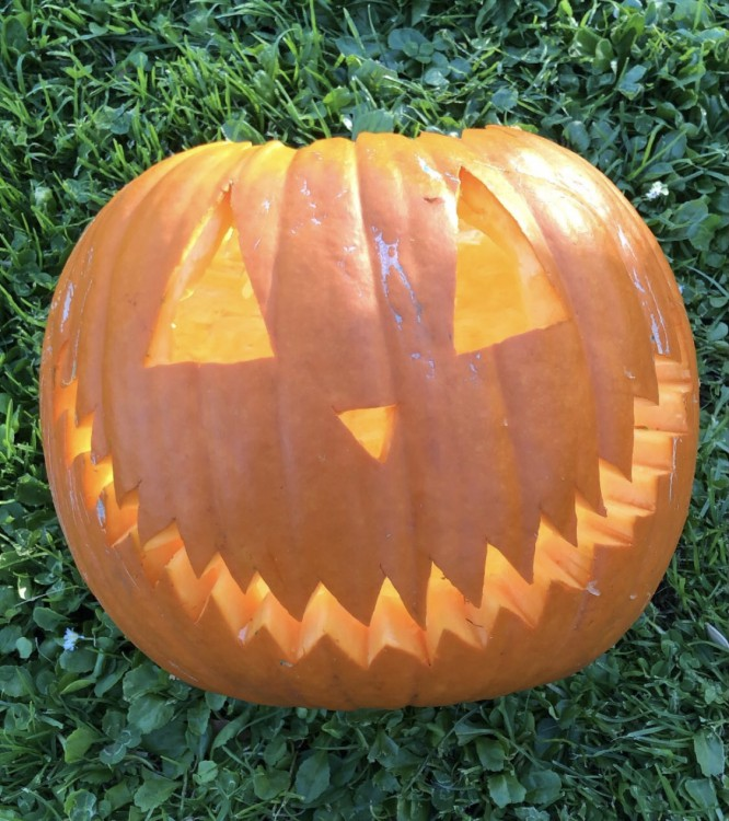 carved pumpkin.