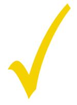 yellow checkmark