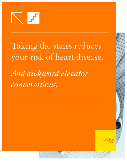 stair promotion sign